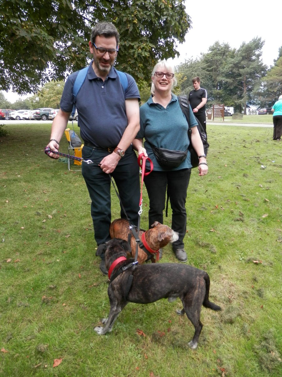 Lovely to see the owner's of Tia who recently passed away who still attended the walk with Zebby & Saxon in memory of Tia
